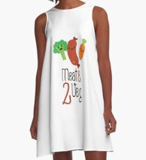 Meat & 2 veg A-Line Dress