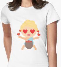Camiseta entallada para mujer Cupido Emoji