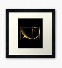 Fibonacci: Golden Ratio Framed Print