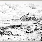 Bamburgh Castle from the Beach by John Morton