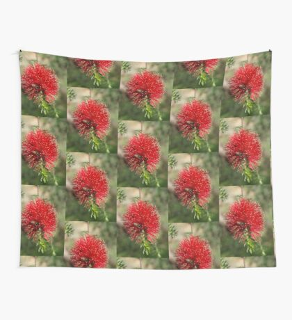 Bottlebrush at the Falls Wall Tapestry