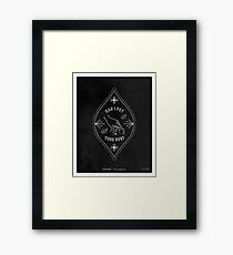 Can I Pet Your Dog – White Ink on Black Framed Print