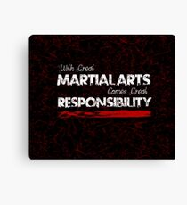 Martial Arts Dark Goth Design  Canvas Print
