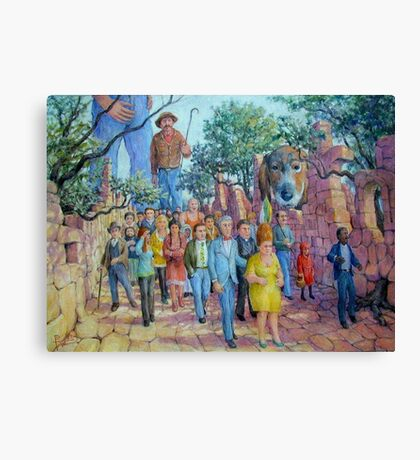 Shepherding the Little People Canvas Print
