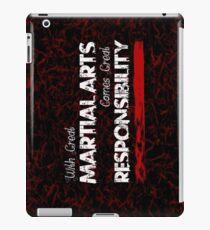 Martial Arts Dark Goth Design  iPad Case/Skin