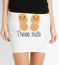 These nuts, adult humour Mini Skirt