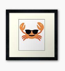 Crab Emoji   Framed Print
