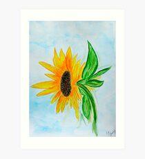 Sunflower Sue Art Print