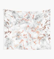 Marmor Textur mit Kupfer Splatter 041 Wandbehang