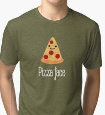 Pizza face Tri-blend T-Shirt
