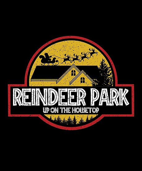 Reindeer Park - Funny Christmas T-Shirt by TrendyMerch