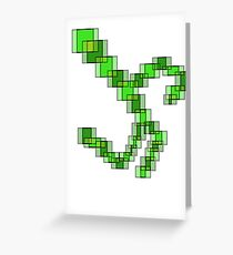 Abstract pixels Greeting Card