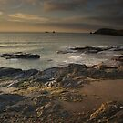 Golden hour at Booby's bay Cornwall by eddiej