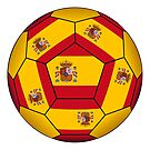 Football ball with Spanish flag by siloto