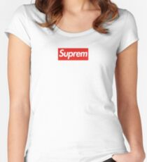 SUPREM Women's Fitted Scoop T-Shirt