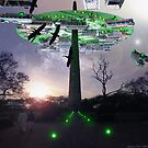 New Abbotabad Spacetruck Repair Deck & Control Tower by Kenny Irwin