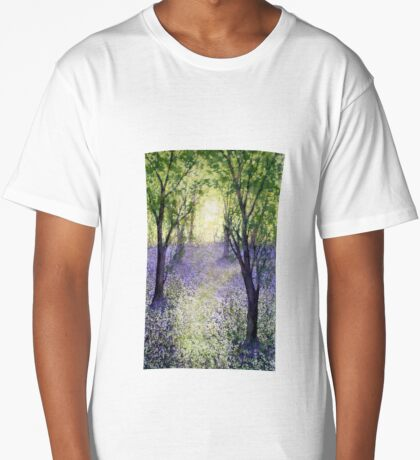 Bluebell Time (original painting sold) Long T-Shirt