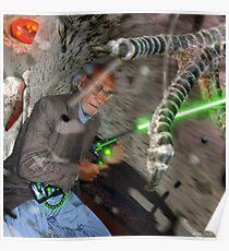 Daud & The Goliath Intergalactic dOve Invader Poster