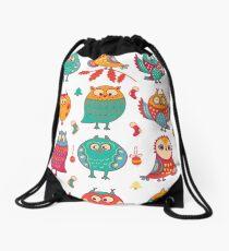 Lovely owls  Drawstring Bag
