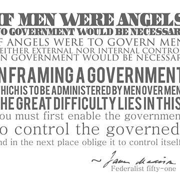 """""""Si los hombres fueran ángeles ..."""" James Madison de papistwhovian"""