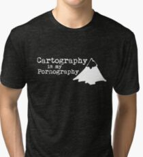Cartography is my Pornography Tri-blend T-Shirt