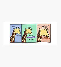 Existential Giraffe - Tiny Snek Comics Photographic Print