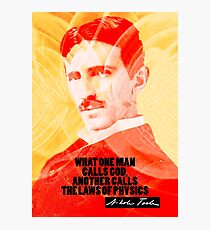 Nikola Tesla Quote 2 Photographic Print