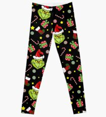 Grinch pattern Leggings