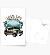 Van Life Retro Conversion Van Design Postcards