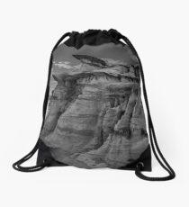 Bisti Badlands in Black and White Drawstring Bag