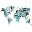 world map 125 art #worldmap #map by JBJart