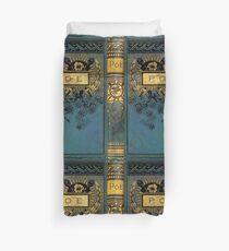 Edgar Allan Poe alter viktorianischer Bucheinband Bettbezug