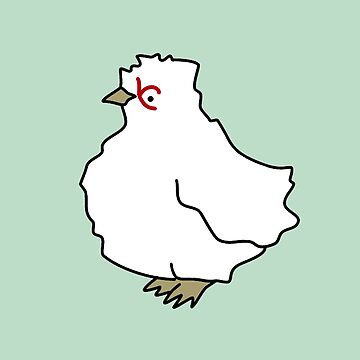 Chicken pattern / mint by critterandposie