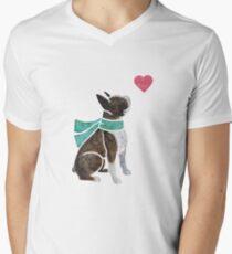 Watercolour Boston Terrier Men's V-Neck T-Shirt