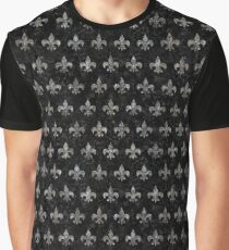 ROYAL1 BLACK MARBLE & GRAY STONE (R) Graphic T-Shirt