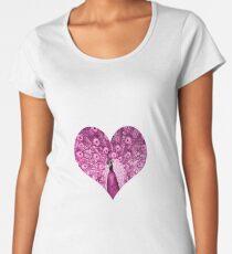 elbkatz` peacock heart pink Premium Scoop T-Shirt