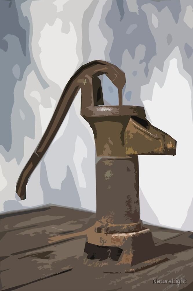 Stylized photo of a hand water pump at a horse trough in Old Town State Historic Park, San Diego CA. by NaturaLight