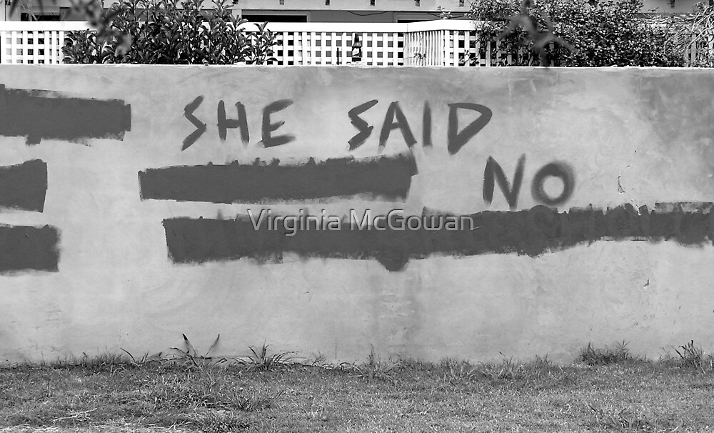 She said no! by Virginia McGowan