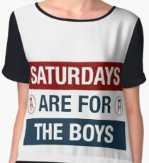 Saturdays are for the boys Women's Chiffon Top