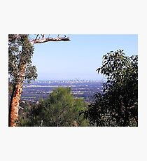 Perth from the hills Photographic Print