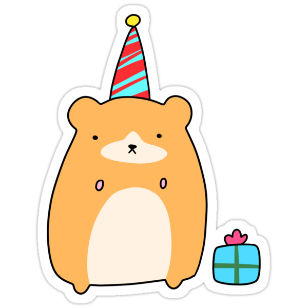 Geburtstag Hamster Sticker Von SaradaBoru