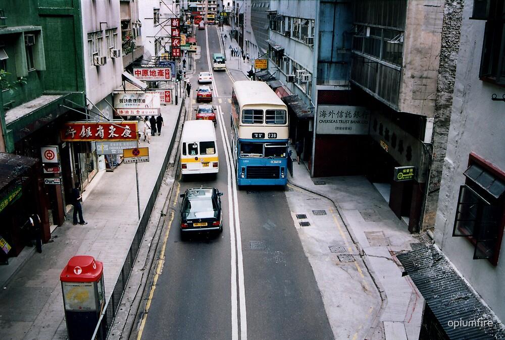 hong kong street view by opiumfire