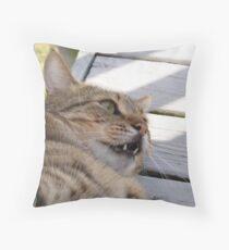 Not Happy!!! Throw Pillow