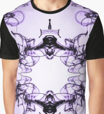 Mirrored Water Black and Purple Graphic T-Shirt