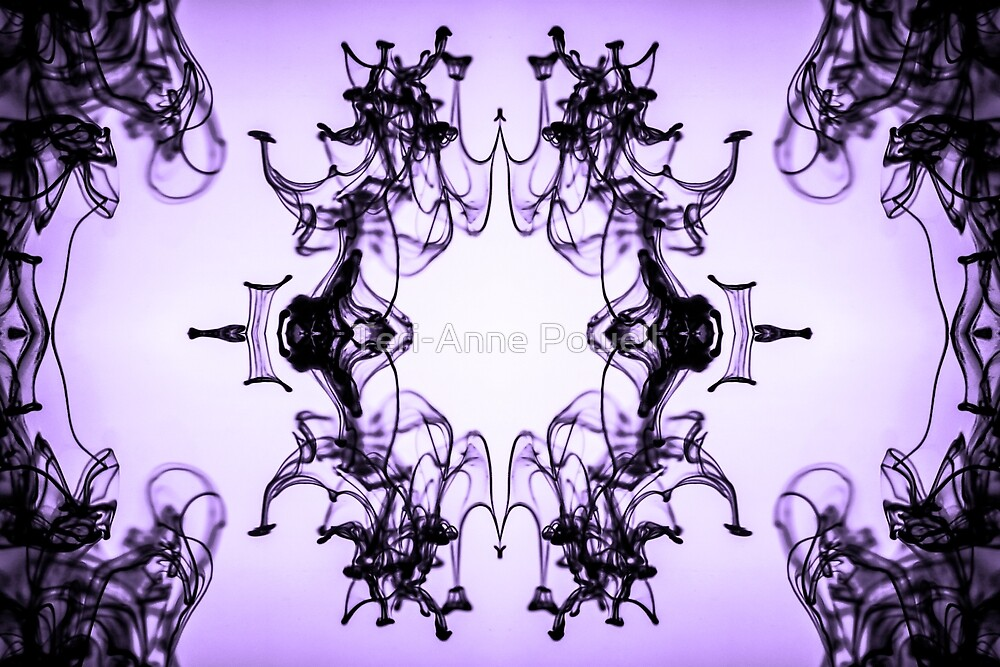 Mirrored Water Black and Purple by Teri-Anne Powell