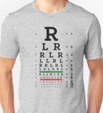 Drummers Eye Chart Unisex T-Shirt