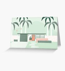 Mid Century Paradise Greeting Card