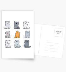 Nine cute kittens Postcards