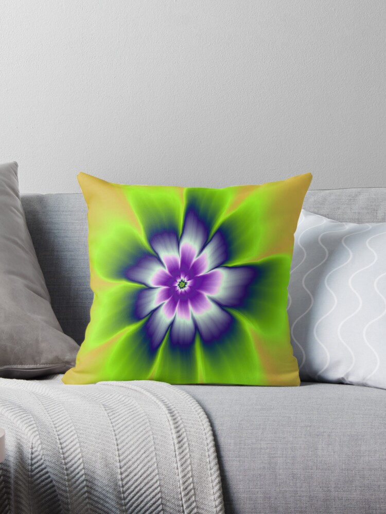 Blue and Violet Daisy Flower by Objowl