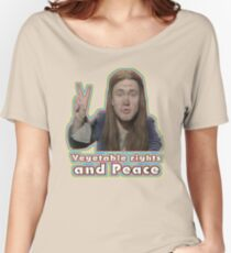 Vegetable Rights Peace The Young Ones Women's Relaxed Fit T-Shirt